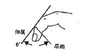 指の屈曲(DIP)/伸展(DIP)の参考図